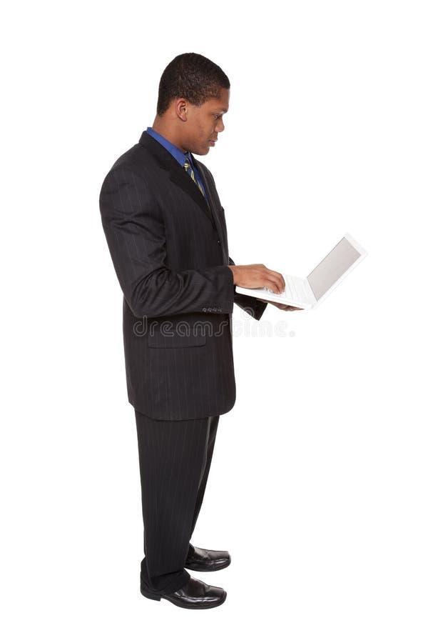 Επιχειρηματίας - βέβαιο lap-top στοκ φωτογραφίες με δικαίωμα ελεύθερης χρήσης