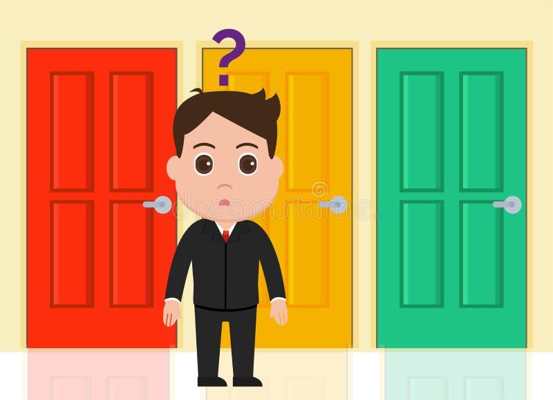 Επιχειρηματίας, διάνυσμα μεταφοράς 3 επιλογών απεικόνιση αποθεμάτων