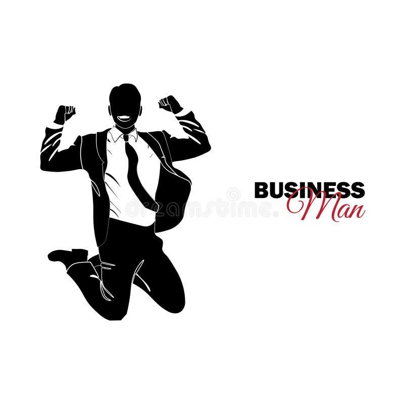 Επιχειρηματίας, διευθυντής κοστούμι επιχειρησιακών Άλμα επιχειρηματιών απεικόνιση αποθεμάτων