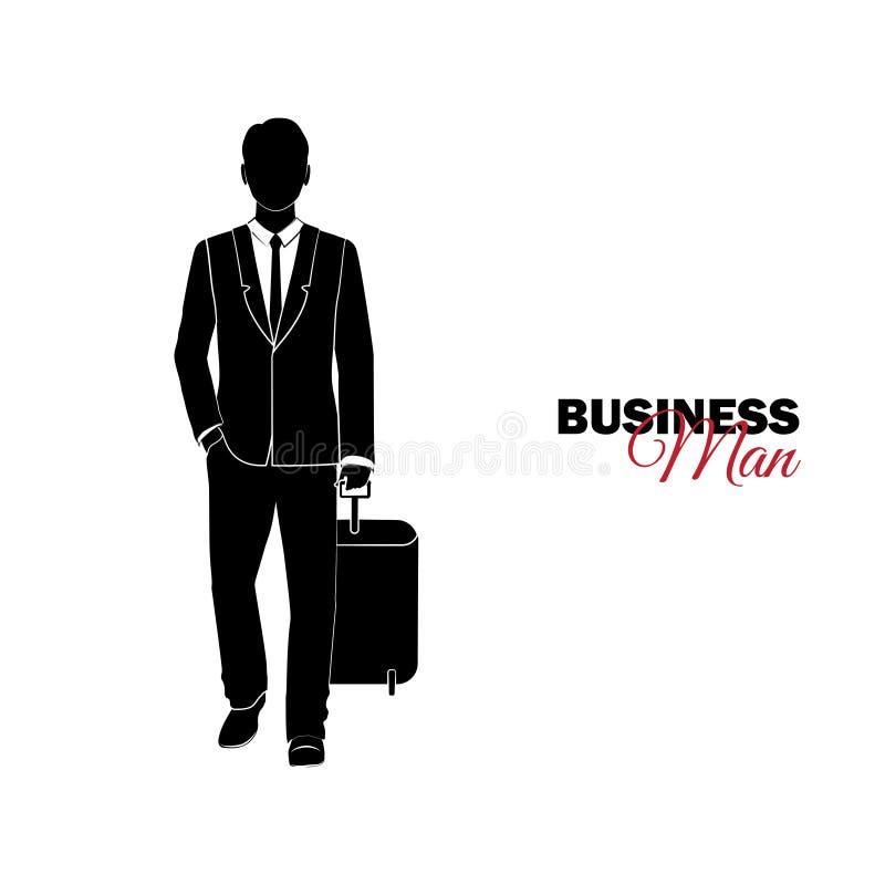 Επιχειρηματίας, διευθυντής κοστούμι επιχειρησιακών Ο επιχειρηματίας έρχεται ελεύθερη απεικόνιση δικαιώματος