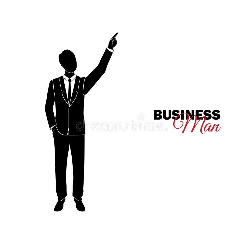 Επιχειρηματίας, διευθυντής κοστούμι επιχειρησιακών διανυσματική απεικόνιση