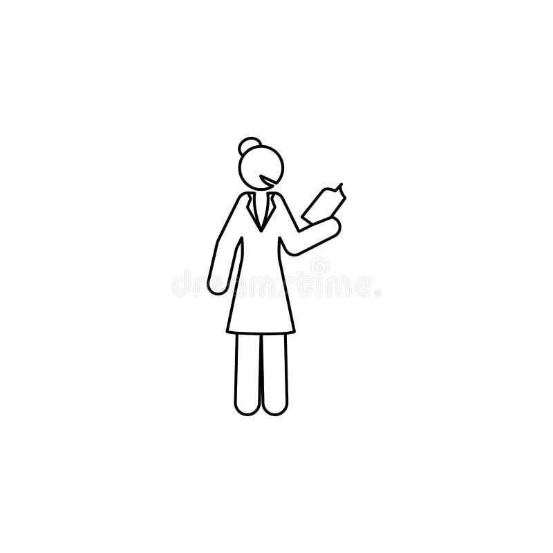 Επιχειρηματίας, εικονίδιο βιβλίων Στοιχείο του ανεξάρτητου εικονιδίου γραμμών γυναικών ελεύθερη απεικόνιση δικαιώματος