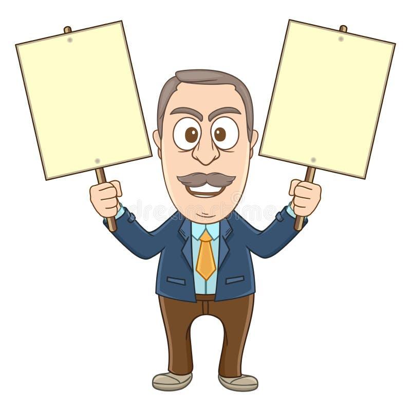 Επιχειρηματίας - επίδειξη διανυσματική απεικόνιση