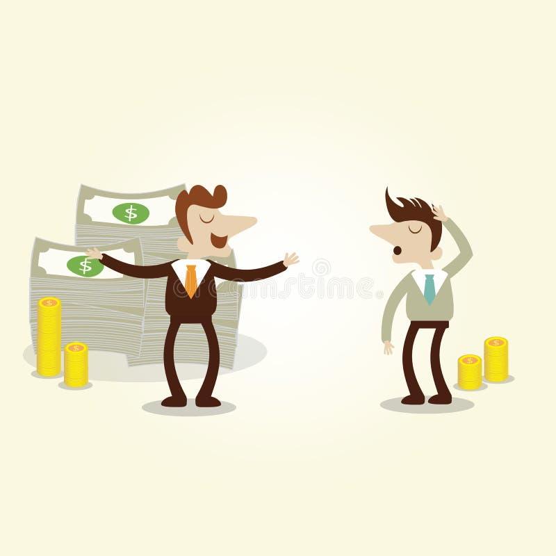 Επιχειρηματίας επιτυχίας που μιλά με το νέο invester διανυσματική απεικόνιση