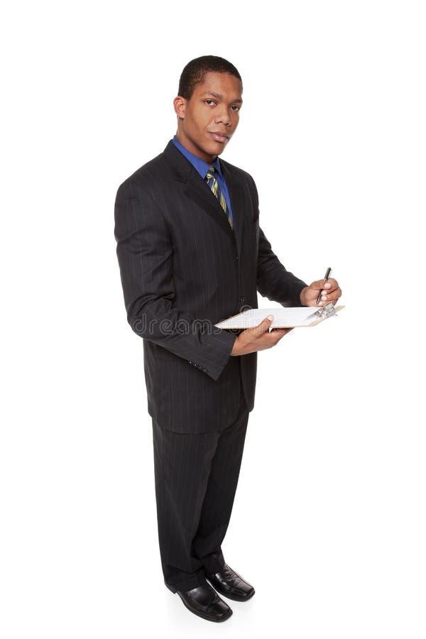 Επιχειρηματίας - ερωτηματολόγιο περιοχών αποκομμάτων στοκ εικόνες