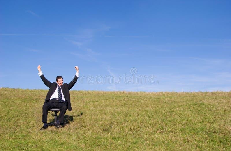 επιχειρηματίας ευτυχής στοκ εικόνα