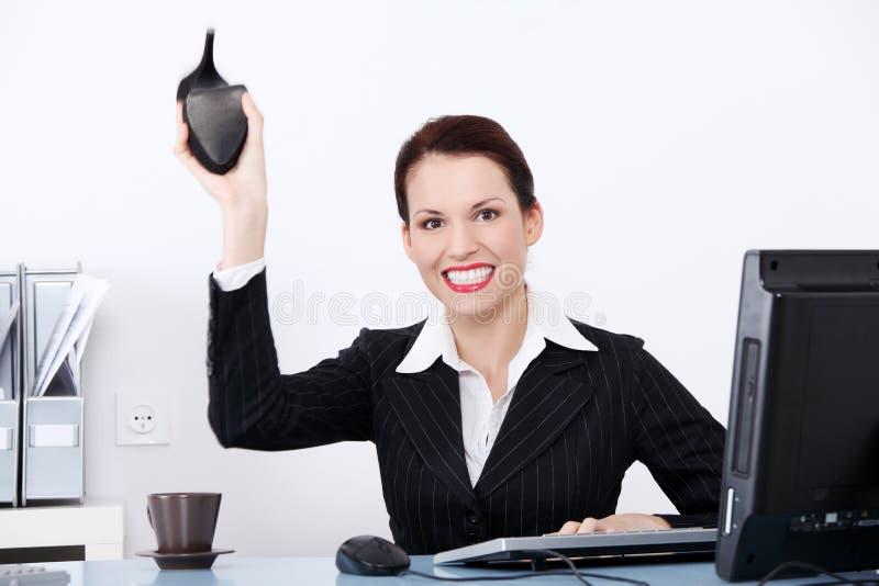 επιχειρηματίας η τρελλή &rho στοκ φωτογραφία με δικαίωμα ελεύθερης χρήσης