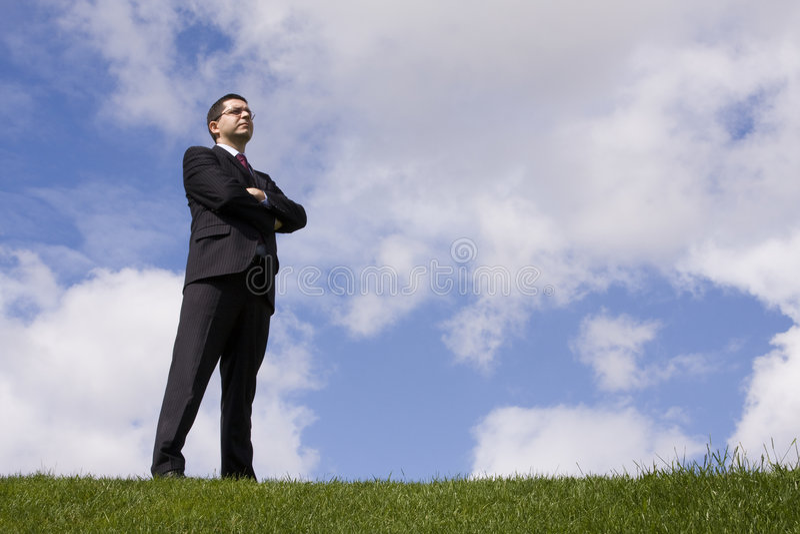 επιχειρηματίας ισχυρός στοκ εικόνα με δικαίωμα ελεύθερης χρήσης