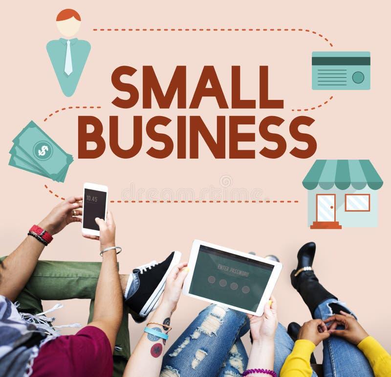 Επιχειρηματίας ιδιοκτησίας προϊόντων αγοράς θέσεων μικρών επιχειρήσεων συμπυκνωμένος στοκ φωτογραφία