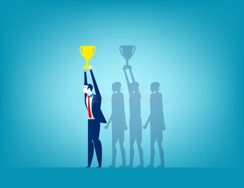 Επιχειρηματίας και επιτυχία Επιχειρησιακή διανυσματική απεικόνιση έννοιας απεικόνιση αποθεμάτων