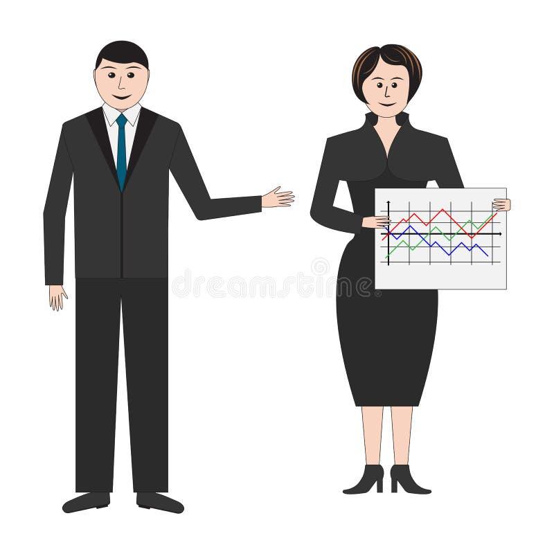 Επιχειρηματίας και επιχειρησιακές γυναίκες απεικόνιση αποθεμάτων