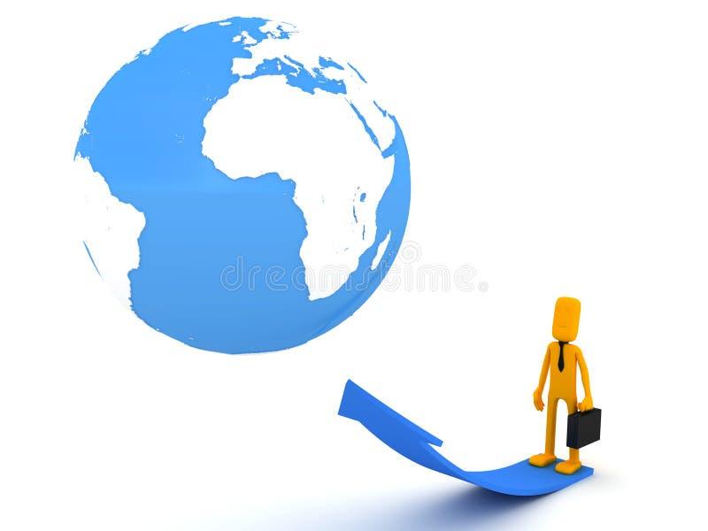 Επιχειρηματίας και η γη απεικόνιση αποθεμάτων