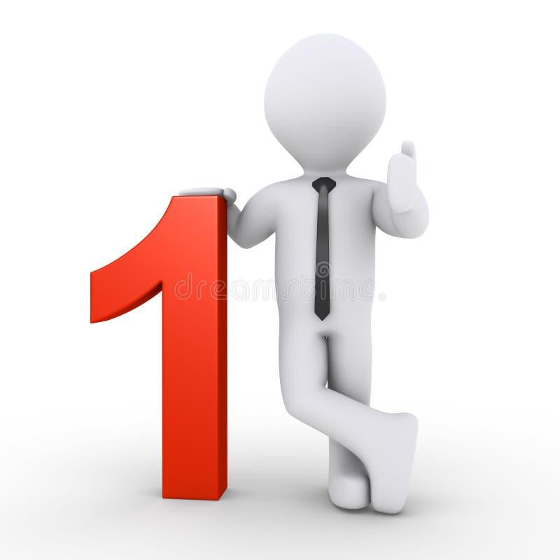 Επιχειρηματίας και ο αριθμός ένας διανυσματική απεικόνιση