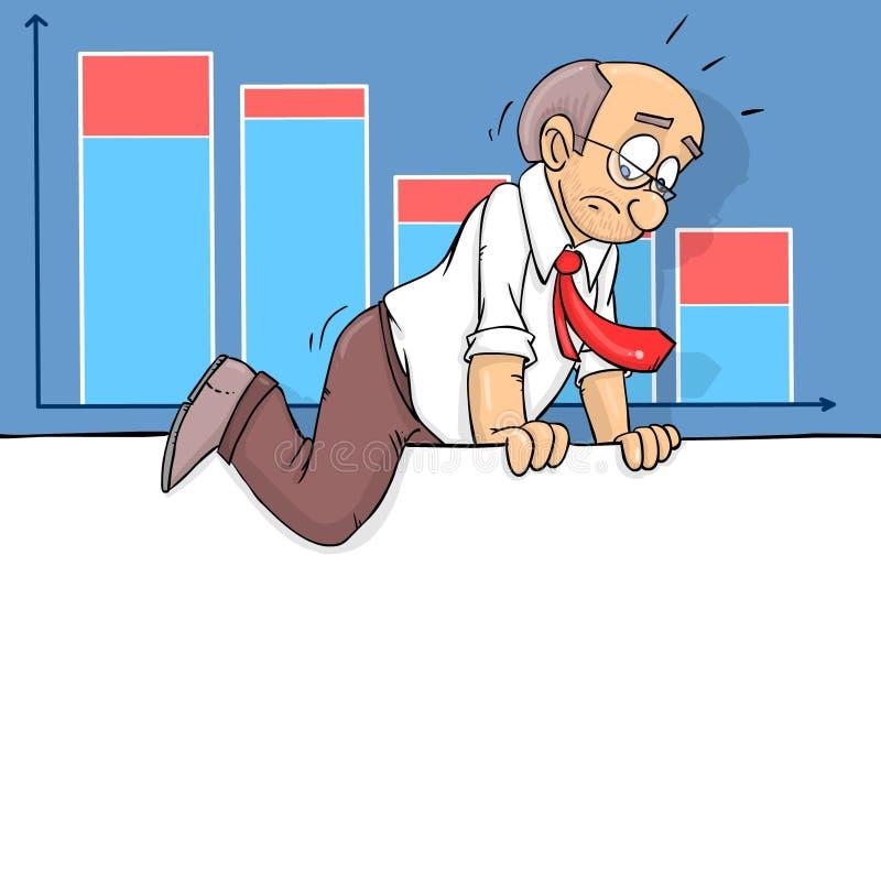 Επιχειρηματίας και παρουσίαση διανυσματική απεικόνιση