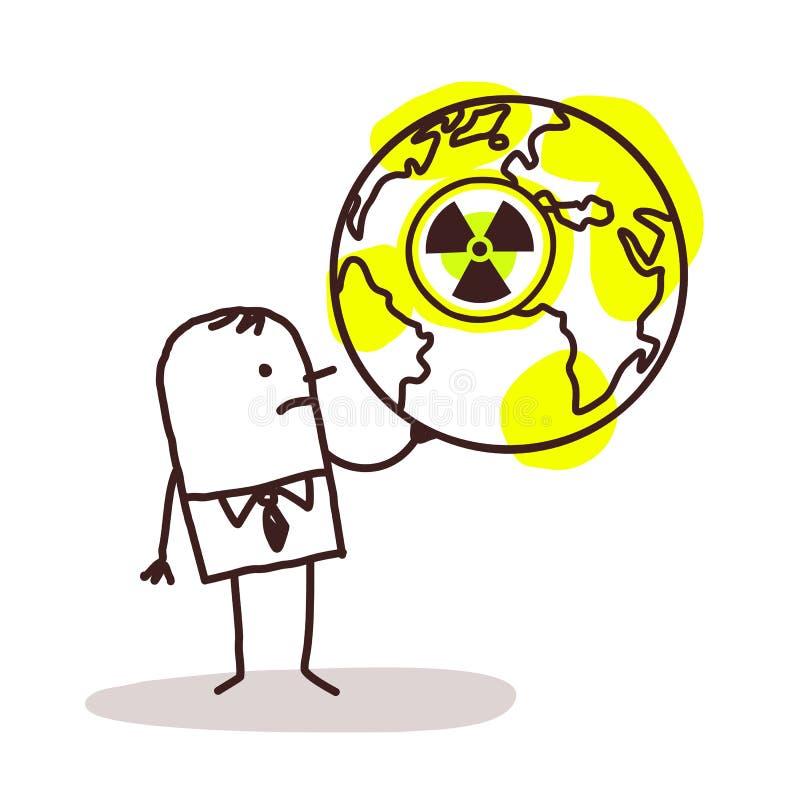 Επιχειρηματίας και πυρηνικός κόσμος ελεύθερη απεικόνιση δικαιώματος