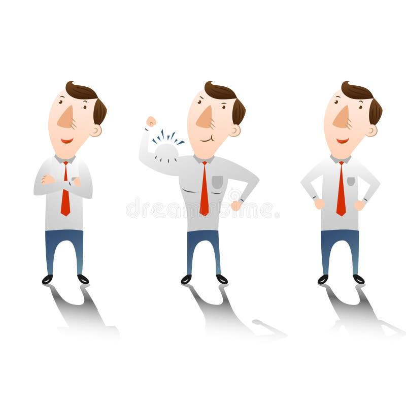 Επιχειρηματίας με βέβαιο διανυσματική απεικόνιση