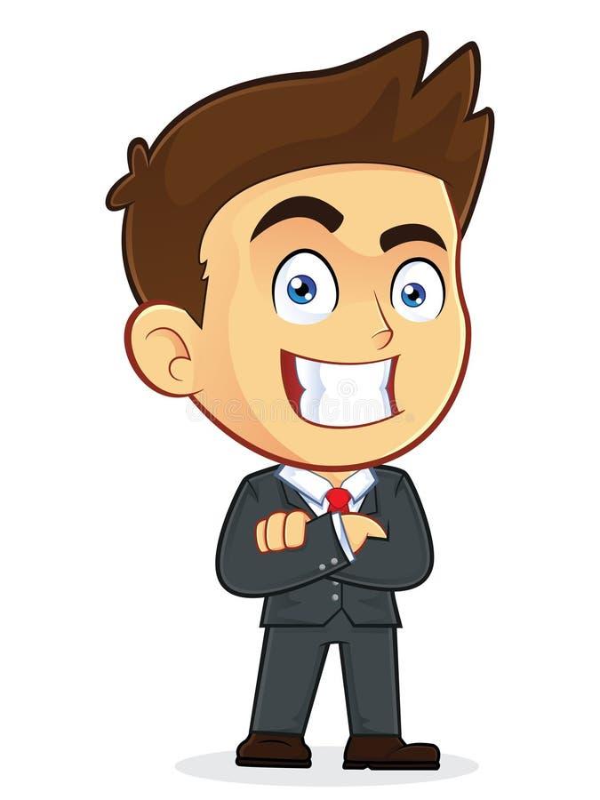 Επιχειρηματίας με τα διπλωμένα χέρια ελεύθερη απεικόνιση δικαιώματος