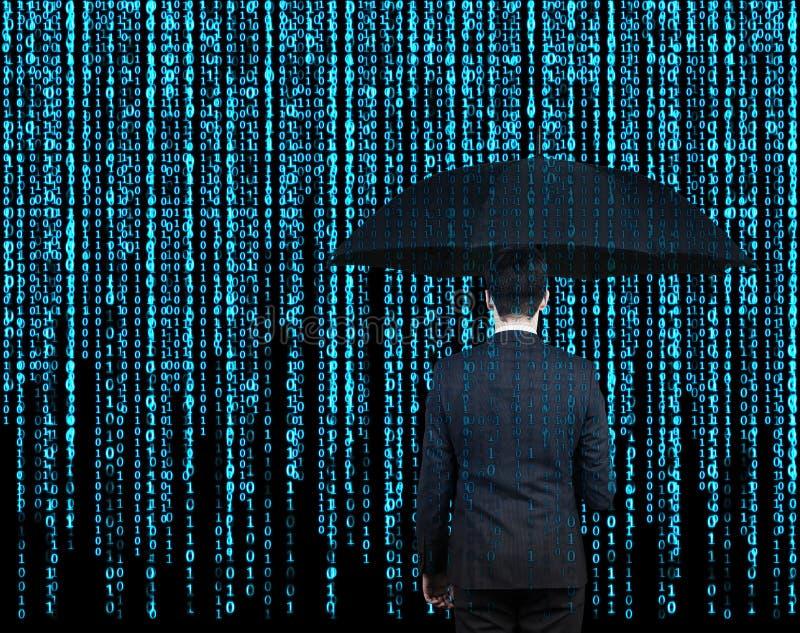 Επιχειρηματίας με την ομπρέλα στοκ φωτογραφίες με δικαίωμα ελεύθερης χρήσης