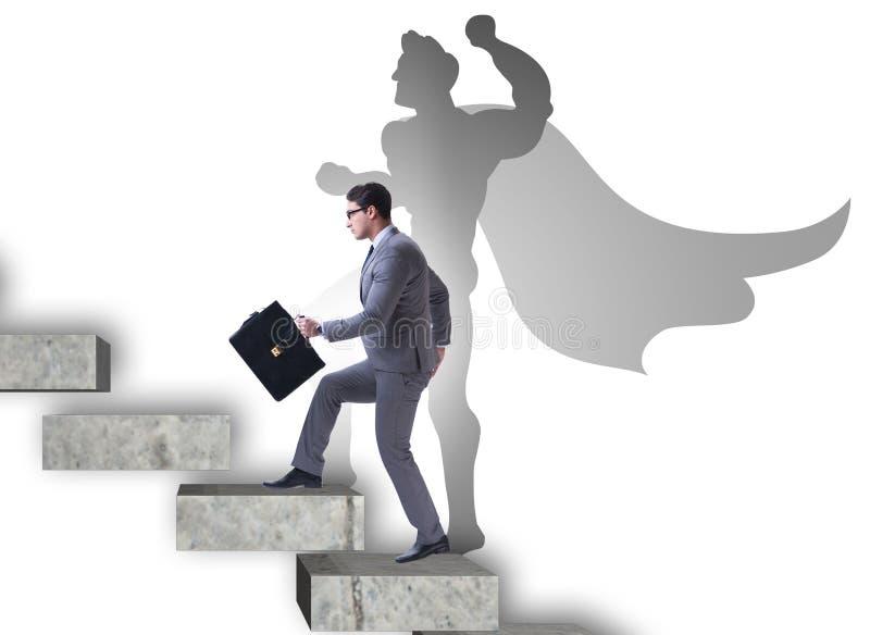 Επιχειρηματίας με τη φιλοδοξία να γίνει superhero στοκ εικόνες με δικαίωμα ελεύθερης χρήσης
