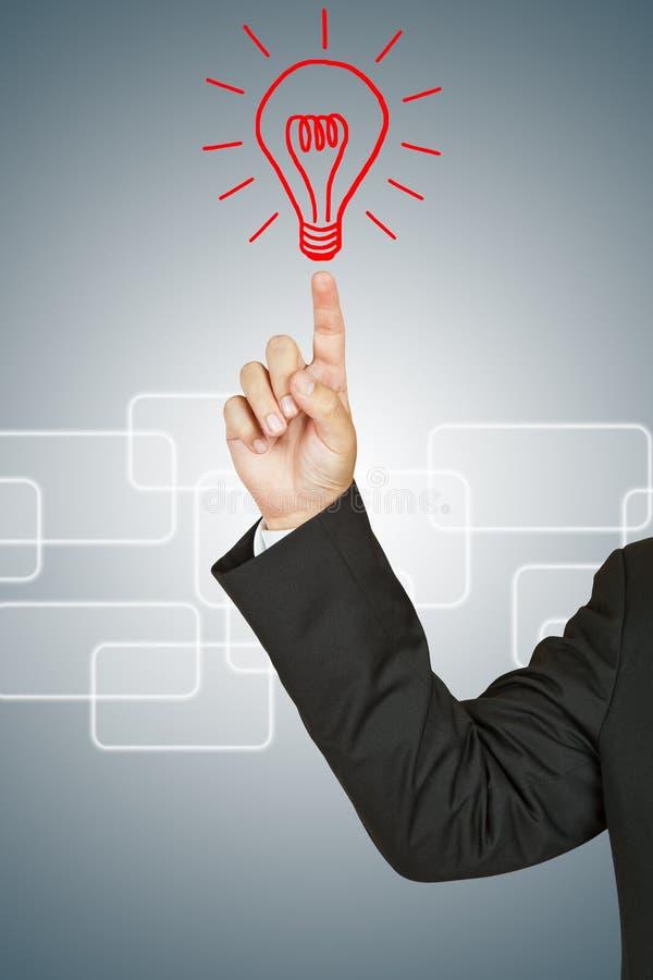 Επιχειρηματίας με το βολβό στοκ εικόνα με δικαίωμα ελεύθερης χρήσης