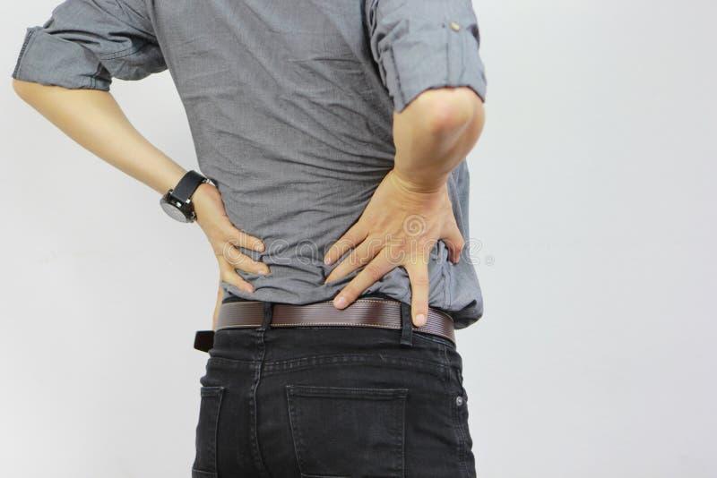 Επιχειρηματίας με το χαμηλό πόνο στην πλάτη, έννοια υγείας στοκ εικόνες με δικαίωμα ελεύθερης χρήσης