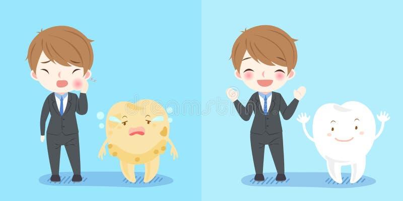 Επιχειρηματίας με το δόντι απεικόνιση αποθεμάτων