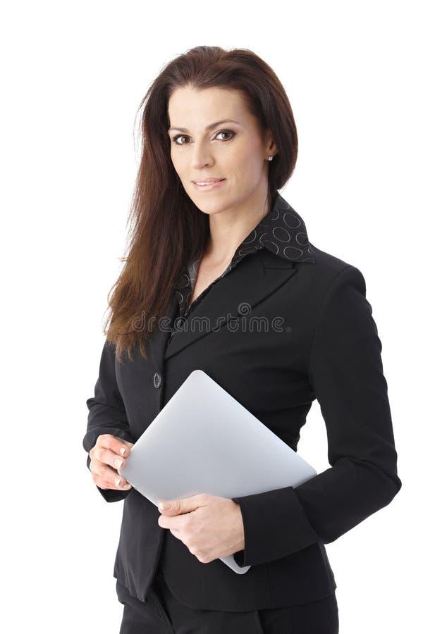 Επιχειρηματίας με το PC ταμπλετών στοκ εικόνες με δικαίωμα ελεύθερης χρήσης