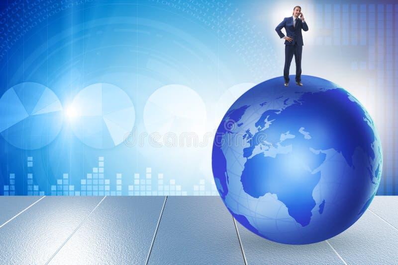 Επιχειρηματίας πάνω από τον κόσμο στοκ εικόνες