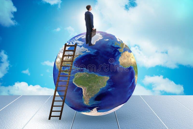 Επιχειρηματίας πάνω από τον κόσμο στοκ φωτογραφία με δικαίωμα ελεύθερης χρήσης