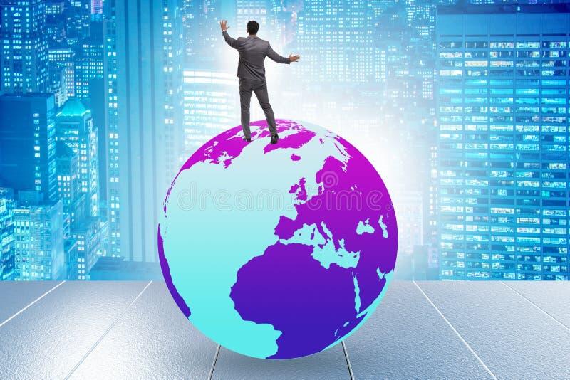 Επιχειρηματίας πάνω από τον κόσμο στοκ φωτογραφία