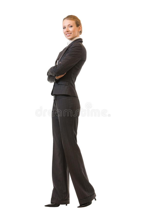 Επιχειρηματίας πλήρης-σώματος, που απομονώνεται στοκ εικόνες