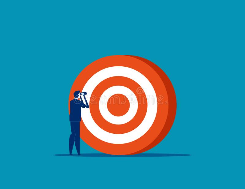 Επιχειρηματίας που αναζητά στόχο Σύλληψη απεικόνισης επιχειρηματικού φορέα, επιτυχής, επίτευγμα, στόχος διανυσματική απεικόνιση