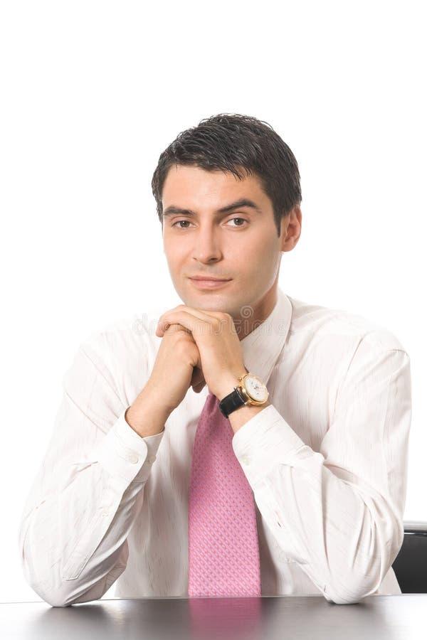 Επιχειρηματίας, που απομονώνεται στο λευκό στοκ φωτογραφία με δικαίωμα ελεύθερης χρήσης