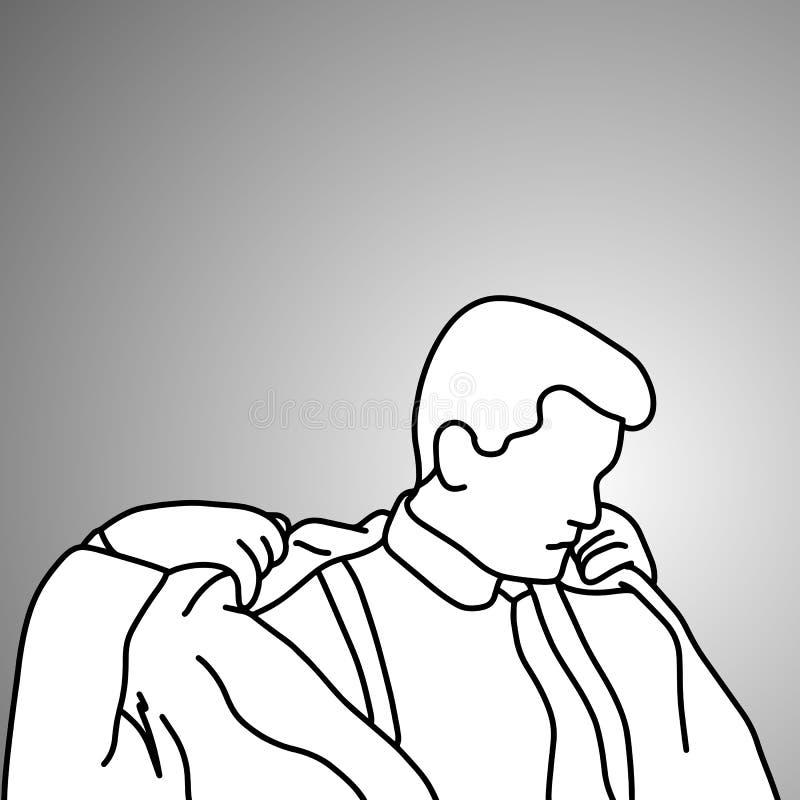 Επιχειρηματίας που βγάζει τη διανυσματική απεικόνιση κοστουμιών του doodle sketc απεικόνιση αποθεμάτων