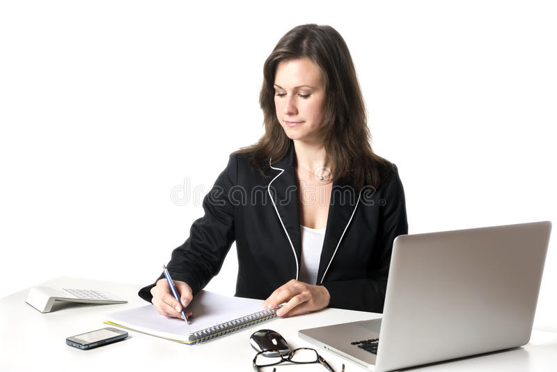 Επιχειρηματίας που γράφει κάτι στοκ εικόνα