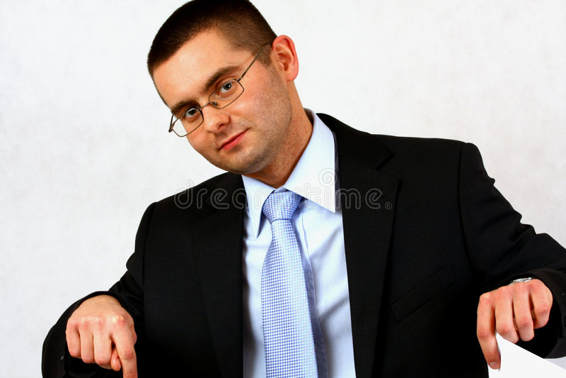 επιχειρηματίας που δείχ&nu στοκ εικόνα