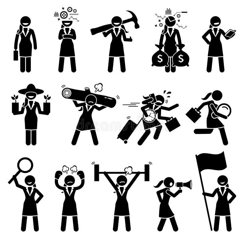 Επιχειρηματίας που είναι διάφοροι χαρακτήρες απεικόνιση αποθεμάτων