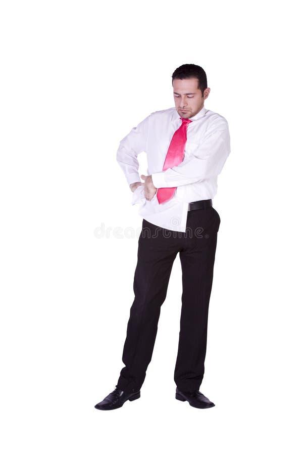επιχειρηματίας που ντύνε&i στοκ εικόνες