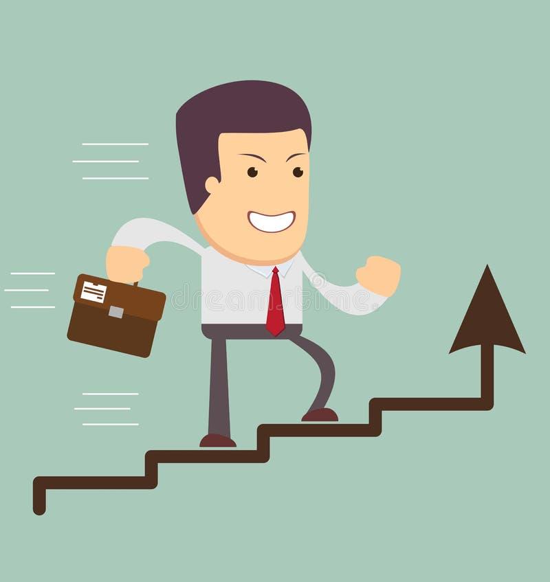 Επιχειρηματίας που οργανώνεται σε μια ανάπτυξη διανυσματική απεικόνιση