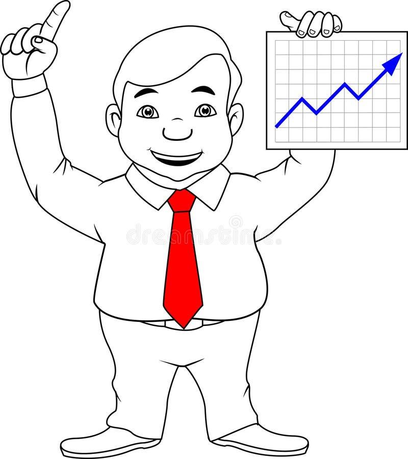 Επιχειρηματίας που παρουσιάζει καλά αποτελέσματα ελεύθερη απεικόνιση δικαιώματος