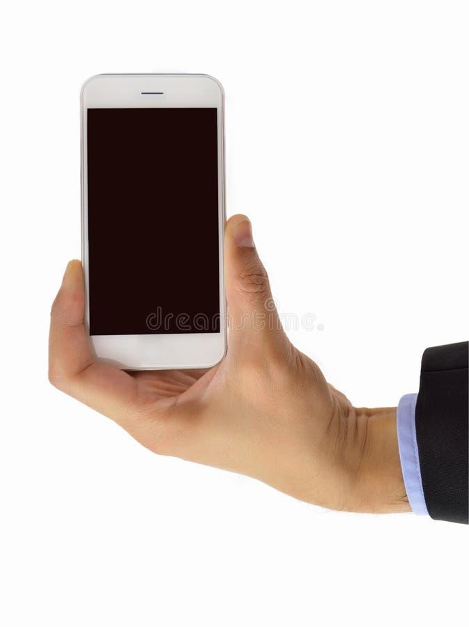 Επιχειρηματίας που παρουσιάζει το smartphone στοκ φωτογραφία με δικαίωμα ελεύθερης χρήσης