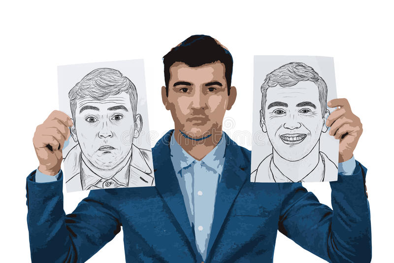 επιχειρηματίας που πιέζ&epsilon ελεύθερη απεικόνιση δικαιώματος