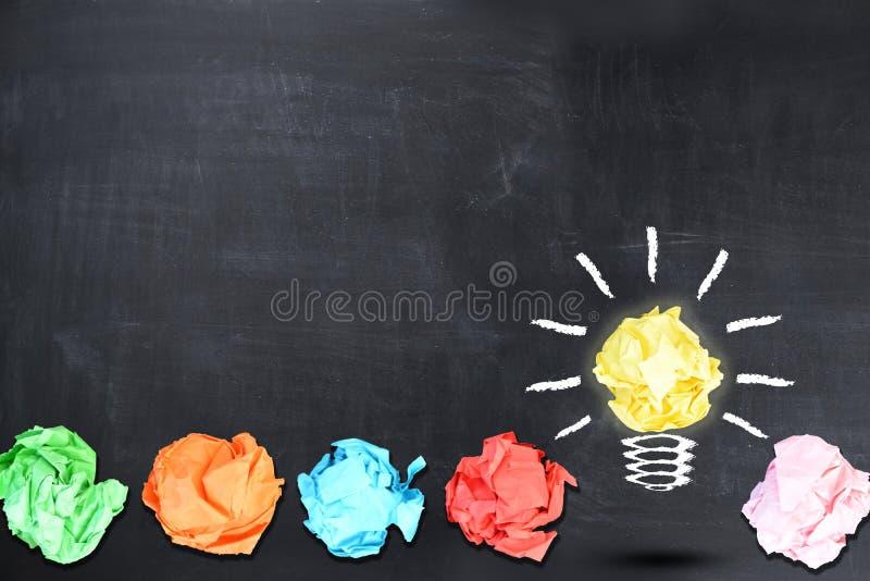 Επιχειρηματίας που σκέφτεται για να υπάρξει μια ιδέα στοκ εικόνες με δικαίωμα ελεύθερης χρήσης