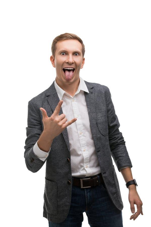 Επιχειρηματίας που συναισθηματικά η άποψη στοκ εικόνες με δικαίωμα ελεύθερης χρήσης