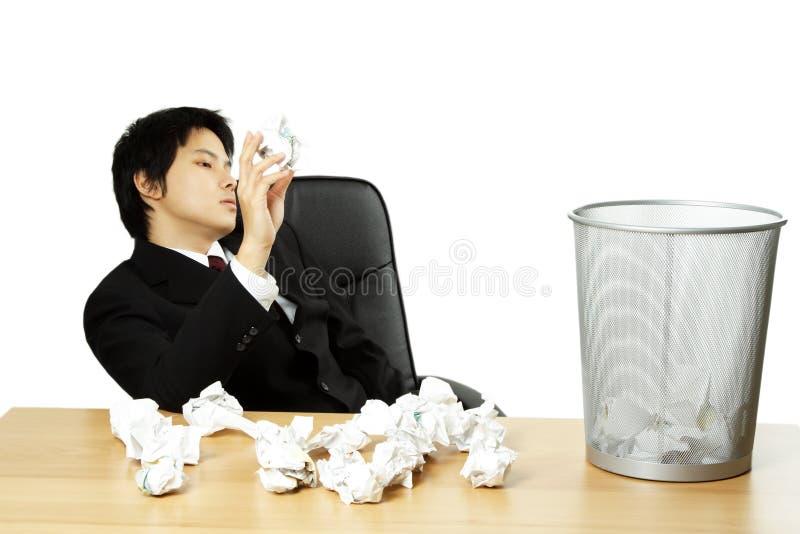 επιχειρηματίας που τονίζ στοκ εικόνα με δικαίωμα ελεύθερης χρήσης