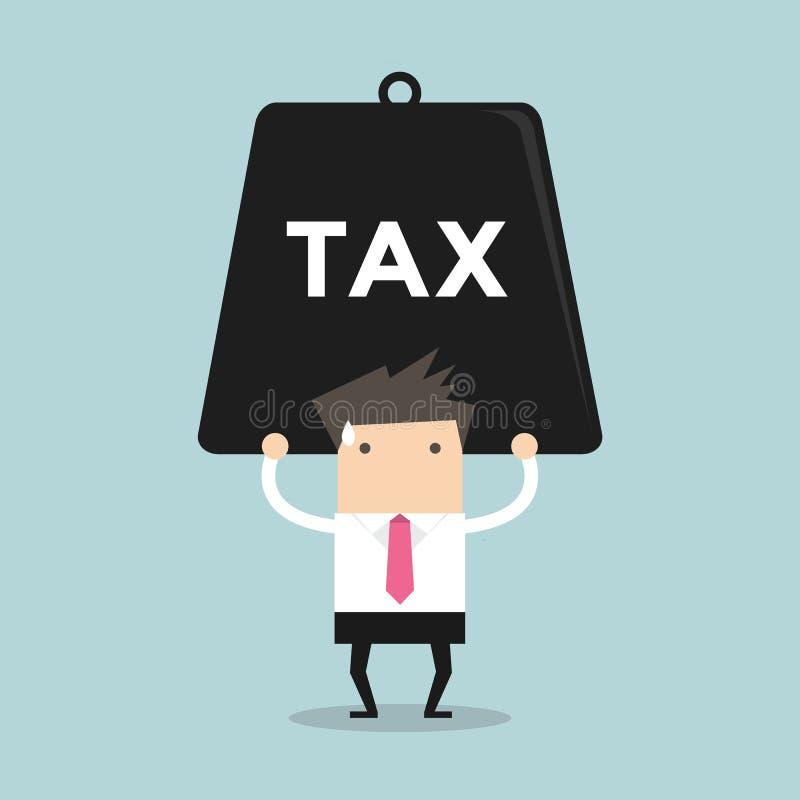 Επιχειρηματίας που φέρνει το βαρύ φόρο ελεύθερη απεικόνιση δικαιώματος