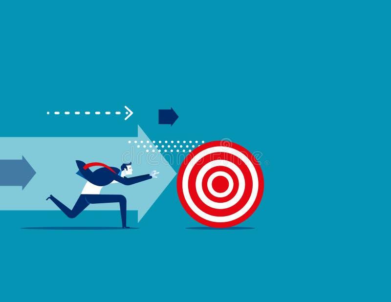 Επιχειρηματίας που χαράζει το στόχο Επιχειρησιακό διανυσματικό illustra έννοιας απεικόνιση αποθεμάτων