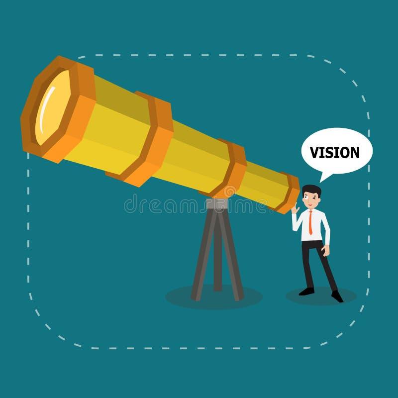 Επιχειρηματίας που ψάχνει το μέλλον ελεύθερη απεικόνιση δικαιώματος