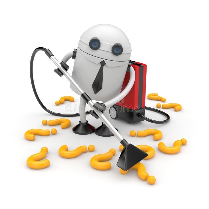Επιχειρηματίας ρομπότ στην εργασία διανυσματική απεικόνιση