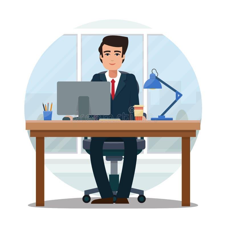 Επιχειρηματίας στην αρχή διανυσματική απεικόνιση